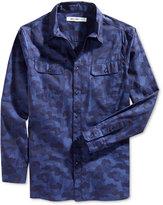 William Rast Men's Baker Camouflage Shirt