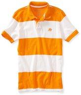 Aeropostale Mens A87 Stripe Rugby Polo Shirt L
