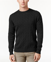 Club Room Men's Pima Cotton Cable-Knit Sweater, Only at Macy's