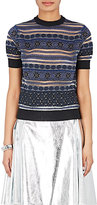 Kolor Women's Striped Sheer Cotton-Blend Sweater