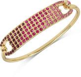 Betsey Johnson Gold-Tone Pink Ombré Crystal Bangle Bracelet