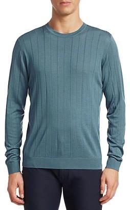 Emporio Armani Vertical Stitch Wool Crewneck Sweater