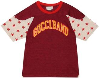Gucci Kids Logo linen T-shirt