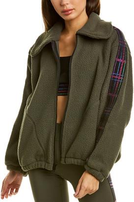 Terez Plaid Elastic Fleece Jacket