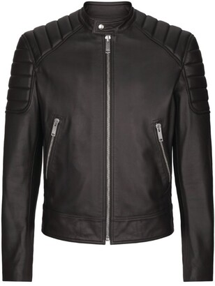 Sandro Paris Leather Biker Jacket