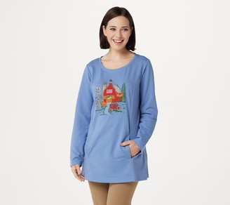 Quacker Factory Autumn Harvest Long Sleeve French Terry Tunic