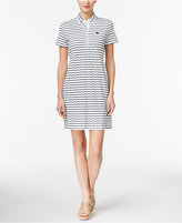 Lacoste Cotton Striped Button-Back Polo Dress