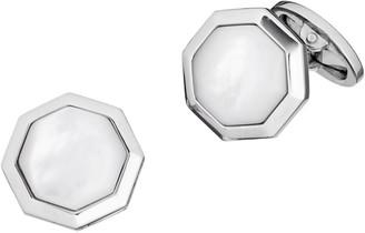 Jan Leslie Sterling Silver & Mother-Of-Pearl Octagonal Cufflinks