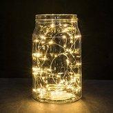 String Lights,Saingace 1M String Fairy Light 10 LED Battery Operated Xmas Lights Party Wedding Lamp (Yellow)