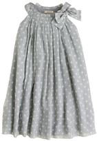 J.Crew Girls' collection crinkle silk chiffon dot dress