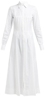 Gabriela Hearst Eugene Corset Cotton Shirtdress - White