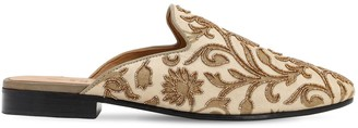I Was A Sari Lvr Sustainable Hand-embroidered Mules