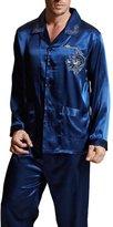 Amybria Men High Quality Silk Pajamas Set Size L