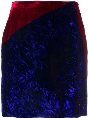 Versace Pre Owned crushed velvet mini-skirt