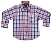 Something Strong White & Blue Plaid Button-Down - Toddler & Boys