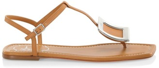Roger Vivier Bikiviv Leather Thong Sandals
