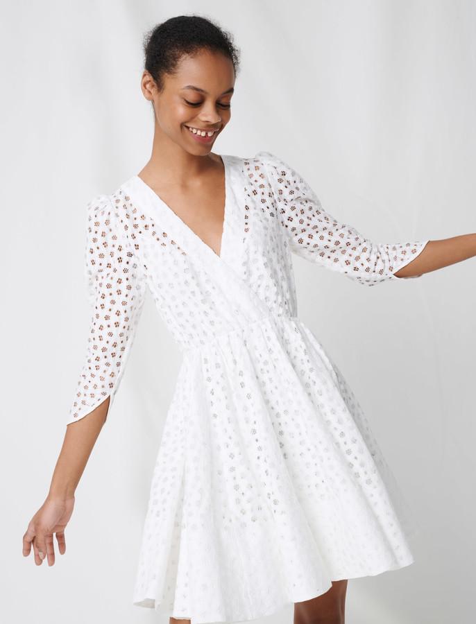 Maje White lace dress