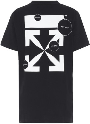 Off-White Logo embroidered cotton T-shirt