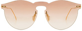 Illesteva X REVOLVE Leonard Mask Sunglasses in Metallic Gold.