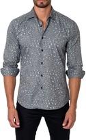 Jared Lang Animal Print Long Sleeve Trim Fit Shirt