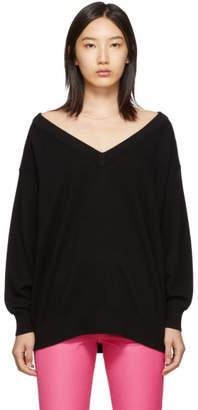 Alexander Wang Black Sheer Yoke Sweater