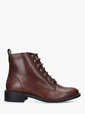 Carvela Spike Stud Detail Leather Ankle Boots