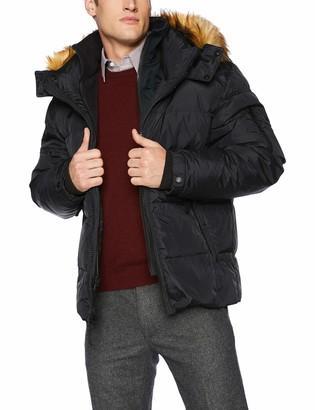 S13 Men's Matte Downhill Down Coat with Removable Faux Fur Hood