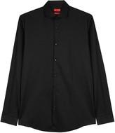 Hugo Ewyn Black Stretch Cotton Shirt