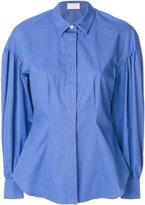 Sara Battaglia puff-sleeve shirt