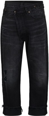 R 13 Crossover cropped jeans