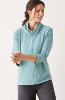 J. Jill Pure Jill Seamed Cowl-Neck Top