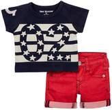 True Religion Indigo Tee & Denim Shorts Box Set (Baby Boys)
