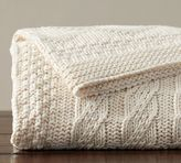 Pottery Barn Organic Patchwork Knit Throw