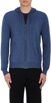 Barneys New York MEN'S COTTON-CASHMERE ZIP-FRONT HOODIE