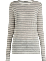 Raey Long-sleeved sheer striped T-shirt