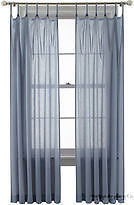 Martha Stewart Marthawindow Flutter Skinny Tab-top Curtain Panel - Sheer Delft Blue - 50 X 95