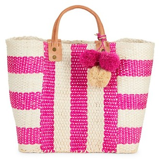 Mar y Sol Woven Striped Tote Bag