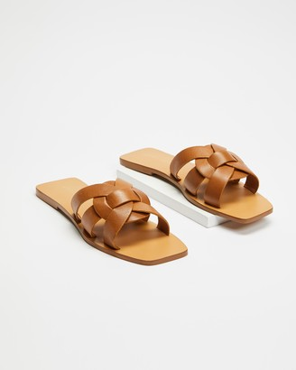 Atmos & Here Soleil Leather Sandals