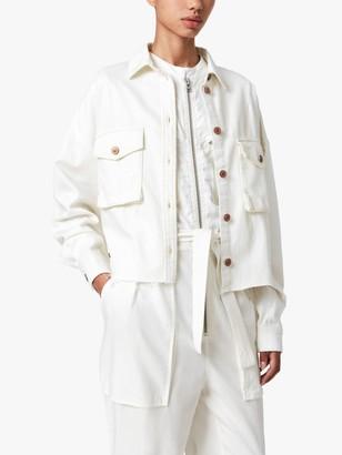 AllSaints Sol Patch Pocket Jacket, White