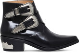 Toga Pulla Double buckle leather ankle boots