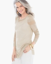 Chico's Woven Shimmer Pullover