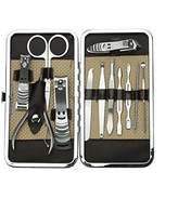 Xgeek 1 Set 12 in 1 Stainless Steel Pedicure Manicure Set Nail Clippers Cleaner Cuticle Clippers Grooming Kit Case by Xgeek