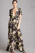 Forever 21 FOREVER 21+ Nightwalker Floral Maxi Dress