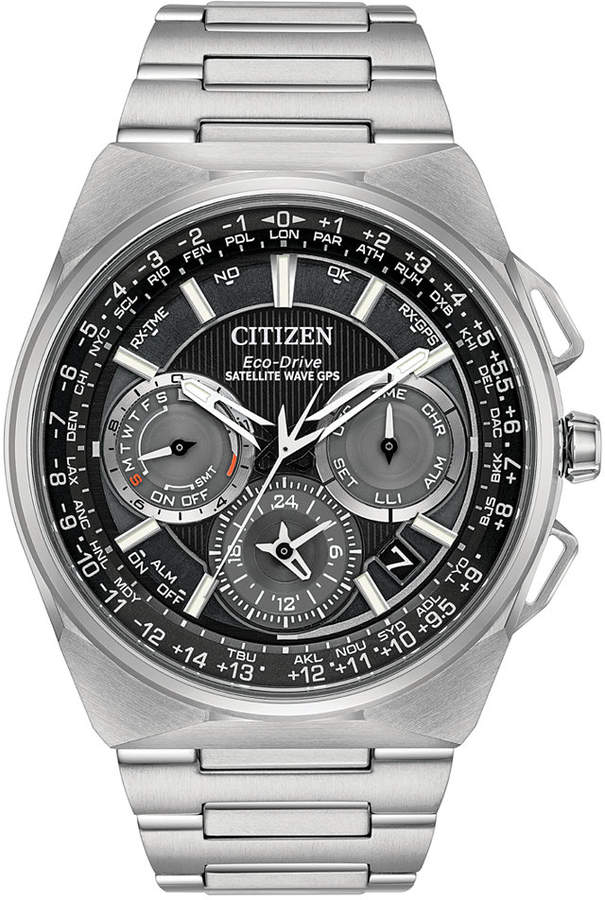 Citizen Eco-Drive Men's Chronograph Satellite Wave Titanium Bracelet Watch 45mm