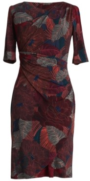 Connected Printed 3/4-Sleeve Sheath Dress