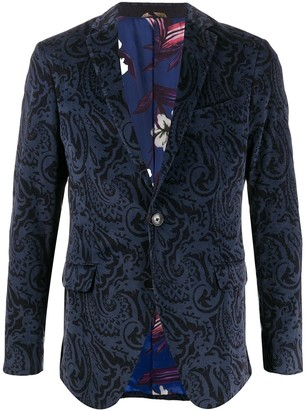 Etro Paisley-Print Single Breasted Blazer