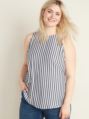 Old Navy Striped Sleeveless Plus-Size Swing Top