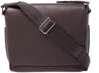 Louis Vuitton Dark Brown Taiga Leather Roman PM Bag