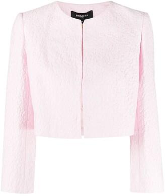 Paule Ka Embroidered Style Cropped Jacket