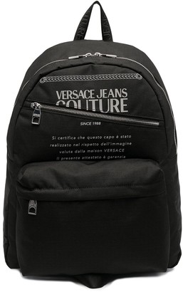 Versace Jeans Couture Logo Print Backpack
